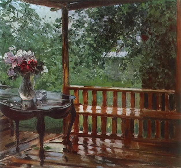Aleksandr Gerasimov - After the Rain (1935)